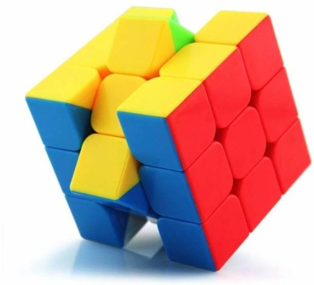 Shri ambe toyland 3X3 High Speed Stickerless Cube