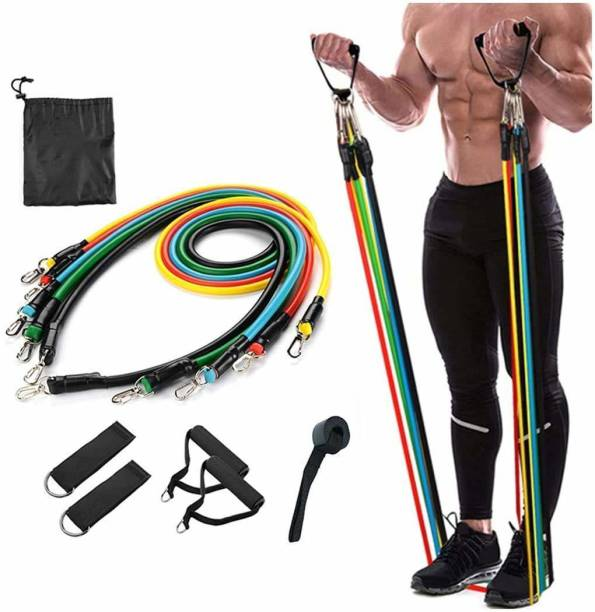VRAVMO Gym Power Resistance Band Set for Exercise Workout for Pull Ups 11 PCS Resistance Tube