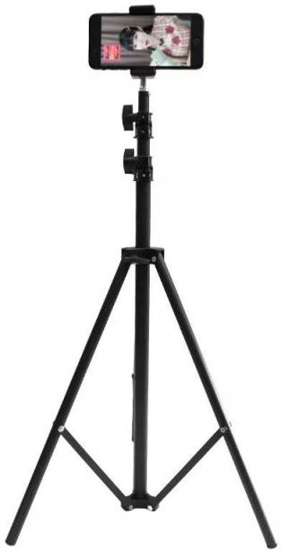 DINGLOT Good quality 2.1m tripod stand 6.9ft flexibility and foldeble Lightweight Portable Aluminium Tripod Stand with Ball Head for Video & DSLR Cameras Tripod Bracket, Tripod Kit