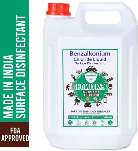 HerbShala Disinfectant For Hospital, Home & Office -(Surface Disinfectant) Safe On Skin - Multi-Purpose Surface Disinfectant - FDA Approved