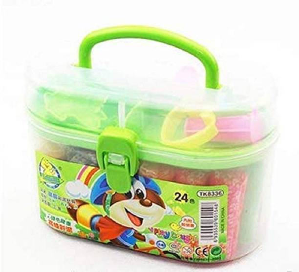 GoodsNet Kids Play Dough with 24 pcs Color and 6 Pcs Moulds in it, Kids just Loves it