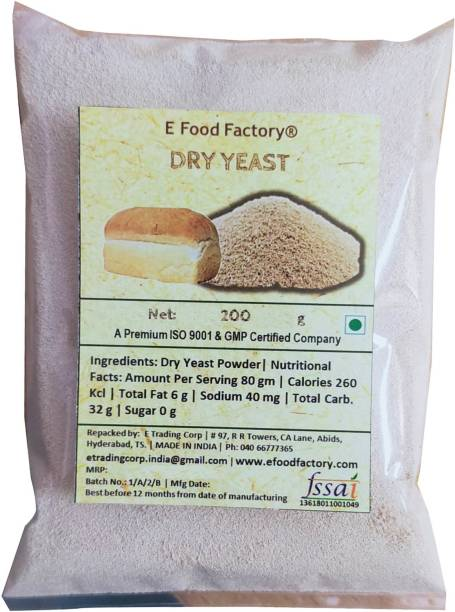 E Food Factory 200 Gm Dry Yeast In Pouch Yeast Crystals
