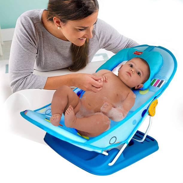 LuvLap Hippo Dippo Baby Bather for Newborn Baby Bath Seat