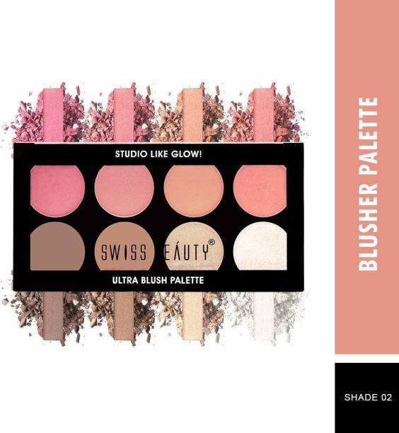 SWISS BEAUTY ULTRA BLUSH PALETTE SB 881 SHADE 2 (MULTICOLOR)