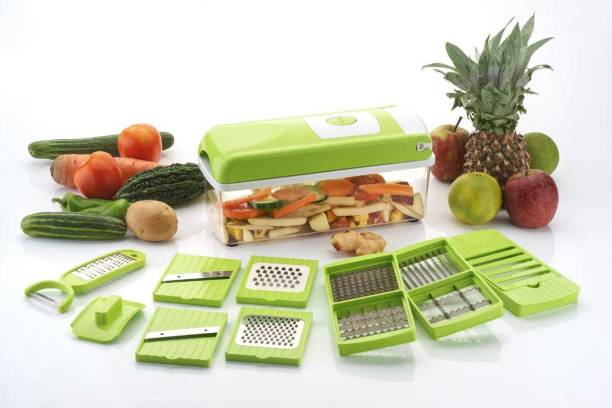 HUMBLE KART 12 in 1 Vegetable & Fruit Grater & Slicer (Chopper ( 12 in 1)) Vegetable & Fruit Grater & Slicer