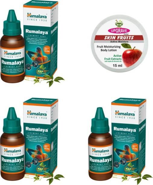 upgrave Skin Fruits 15ml and Himalaya Rumalaya Pack of 3
