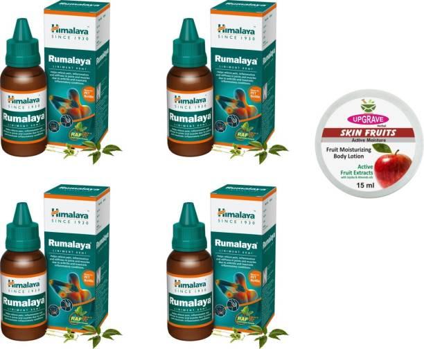 upgrave Skin Fruits 15ml and Himalaya Rumalaya Pack of 4