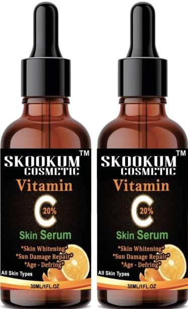 SKOOKUM Improved vitamin C Facial serum- For Anti Aging & Smoothening & Brigthening Face