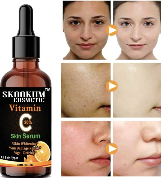 SKOOKUM Improved vitamin C Facial serum- For Anti Aging & Smoothening & Brightening Face