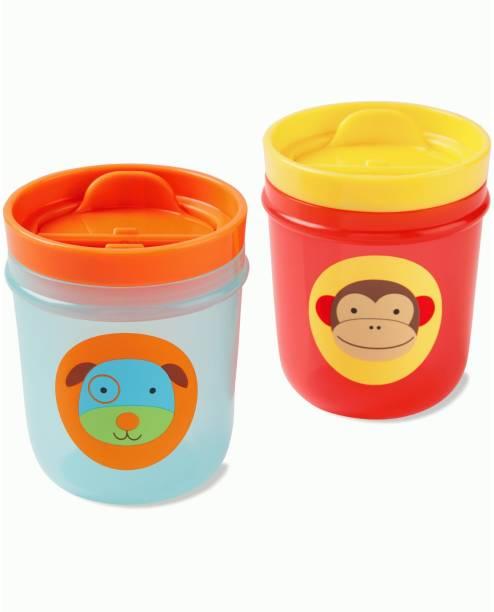 SKIP HOP Zoo Tumbler Cups (Monkey & Dog)  - Plastic