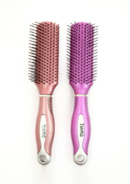 Tiamo Plastic hairbrush set for daily hair styling