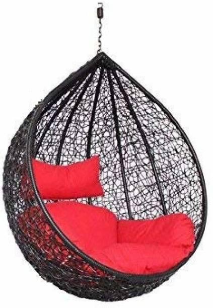 Furniture kart Swing Jhula Hanging Red & Black Iron Hammock