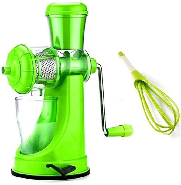 MYYNTI Plastic Hand Juicer Fruit And Vegetable Mixer Hand Juicer With Waste Collector