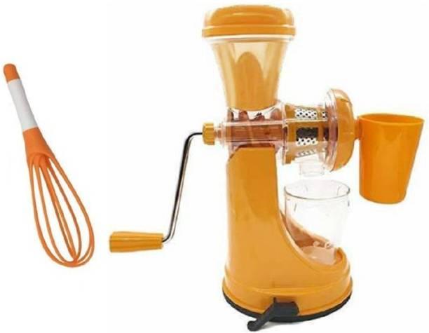 MYYNTI Plastic Hand Juicer Fruit And Vegetable Mixer Hand Juicer (Orange)