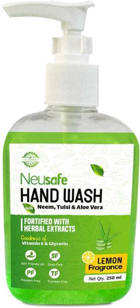 Neusafe Germ Protection Liquid Hand Wash with Power of Neem & Tulsi Extract Hand Wash Pump Dispenser