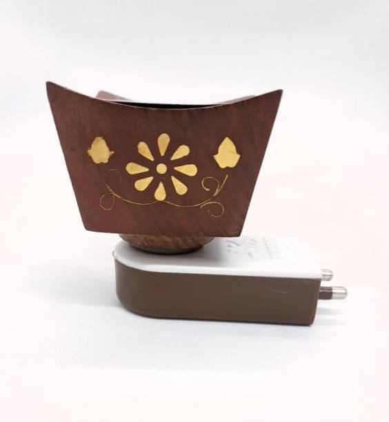 MDTL Wooden Electric Kapoor dani,Oil Diffuser for Home Office Temple God Puja, Positive Energy Wooden Incense Holder
