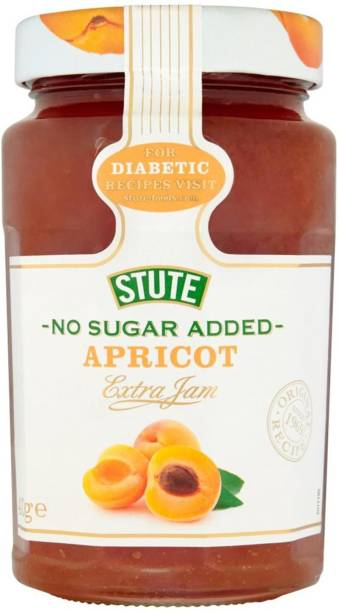 Stute No Sugar Added, Apricot Extra Jam - 430g 430 g