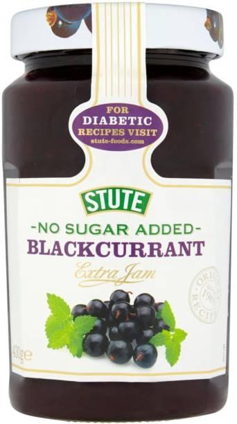 Stute No Sugar Added, Blackcurrant Extra Jam - 430g 430 g