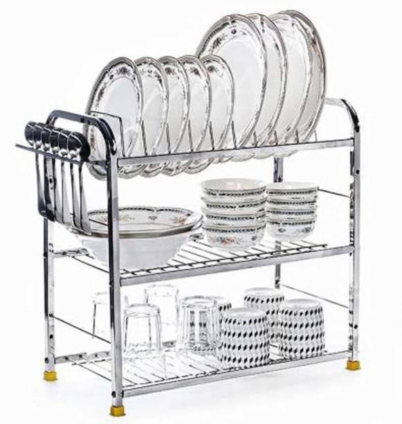 Maxtan 3 Shelf Dish Rack   Modular Kitchen Utensils Rack   18 L x 18 H inch Storage Basket   Utensil Kitchen Rack Utensil Kitchen Rack