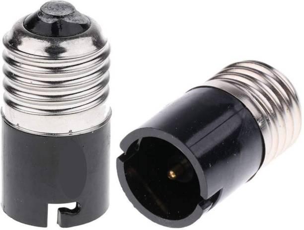 FLANKER E27 to B22 Screw Base Socket Lamp Holder Light Bulb Adapter Plastic Light Socket