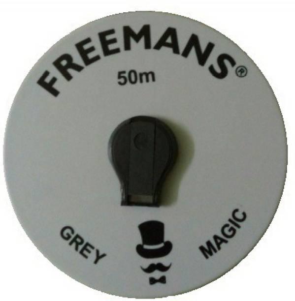 FREEMANS FMI50MTR GREY MAGIC 50 M FIBER GLASS TAPE Measurement Tape