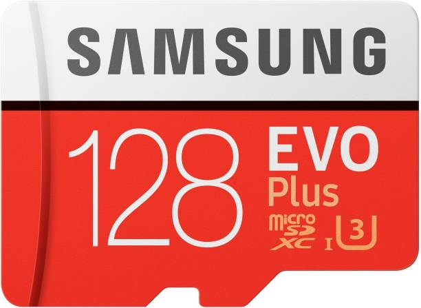SAMSUNG EVO Plus 128 GB SD Card Class 10 95 MB/s  Memory Card