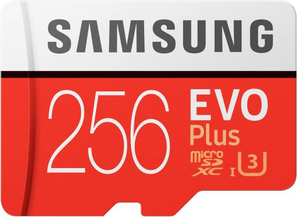 SAMSUNG EVO Plus 256 GB SD Card Class 10 95 MB/s  Memory Card
