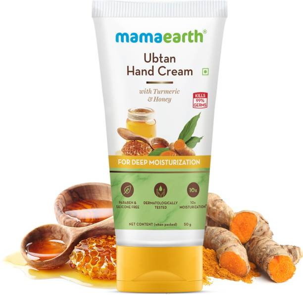 MamaEarth Ubtan Hand Cream with Turmeric and Honey for Deep Moisturization
