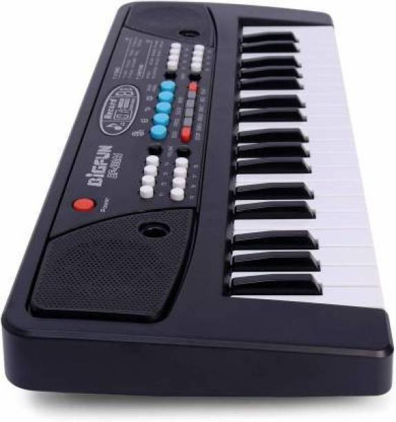 ravya collection 37 Key Piano Big fun Keyboard    Toy with Recording and Mic    Mobile Charger Power    Option battery operated black (Black)