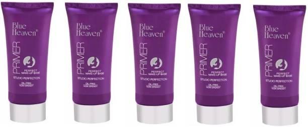 BLUE HEAVEN make up base primer pack of 5 Primer  - 500 ml