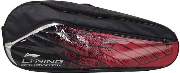 LI-NING ABSM181Badminton Racquet Zipper Kit Bag, Pack of 9, Black & Red