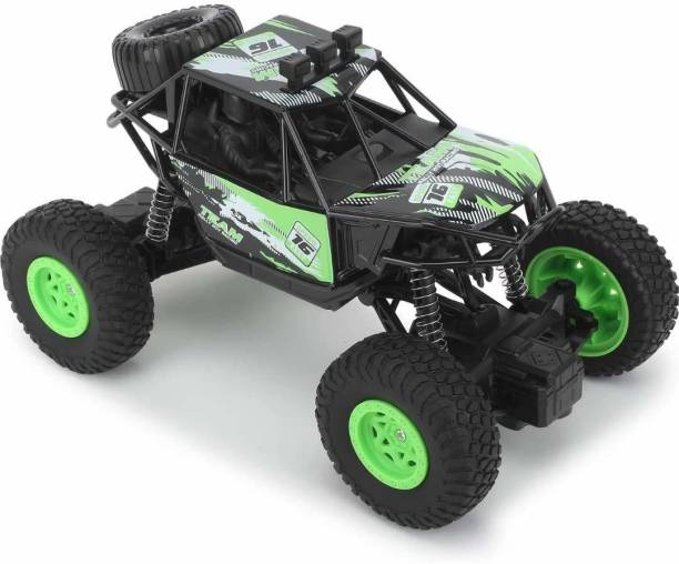 Kidzy big rechargeable OFF-ROAD CAR TOY & ROCK CLIMBING VEHICLE & MONSTER TRUCK with air RUBBER TYRE & RC - REMOTE control for BABY & KIDS & BOY & GIRL on ROAD & OFFROAD & ROCK use