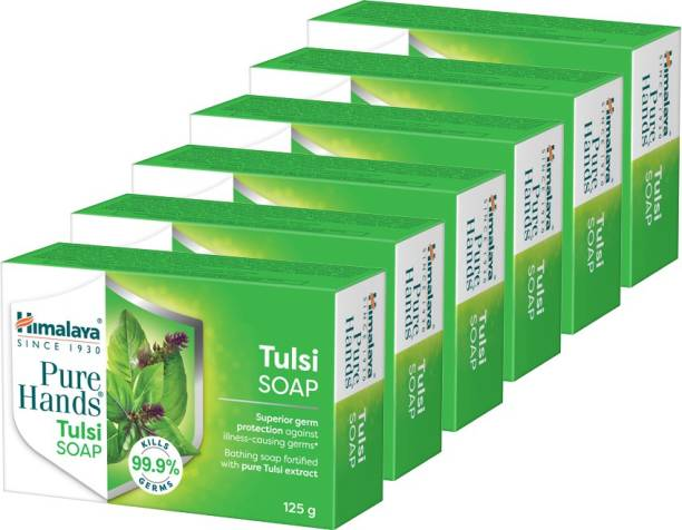 HIMALAYA Pure Hands Tulsi soap 125g (pack of 6)