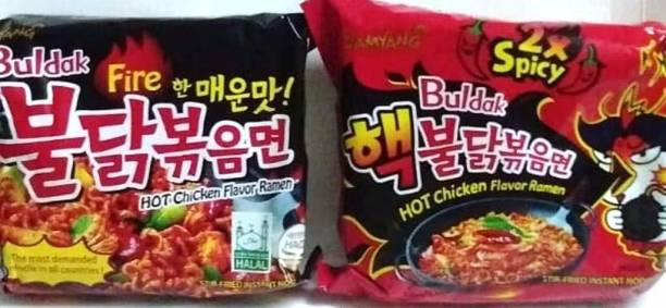 samyang 2xSpicy and Buldak Noodles Combo 150 gm, (Pack Of 2 )