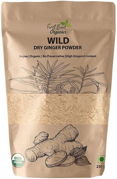 First Bud Organics Dry Ginger Powder 250 g| High Gingerol Content