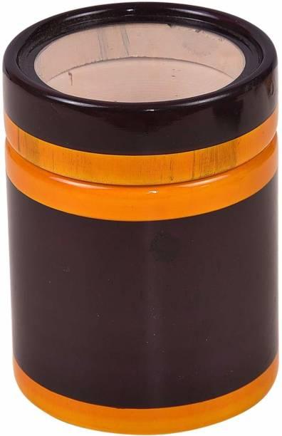 Smartcraft Masala Box, Spice Jars Wooden Storage Pouch