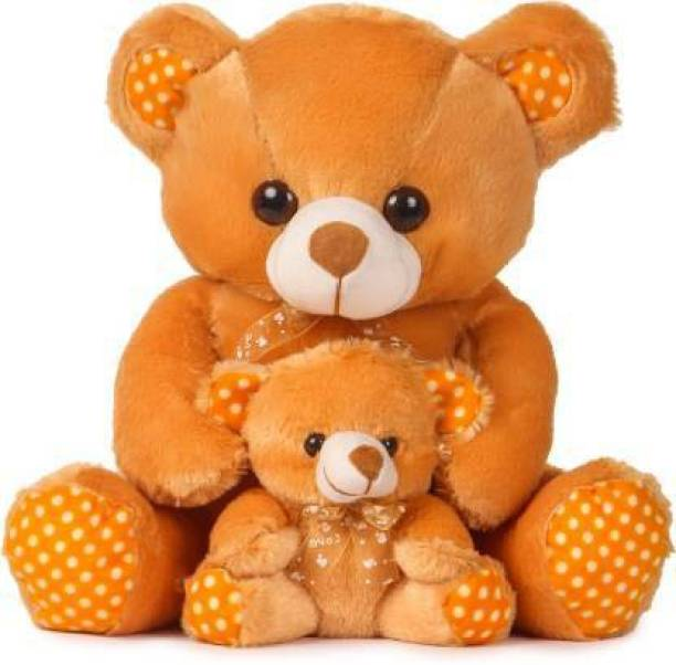 Guddeywala Mother And Baby Teddy Bear I Love You Jumbo For Some One Special 40cm (Brown)  - 40 cm