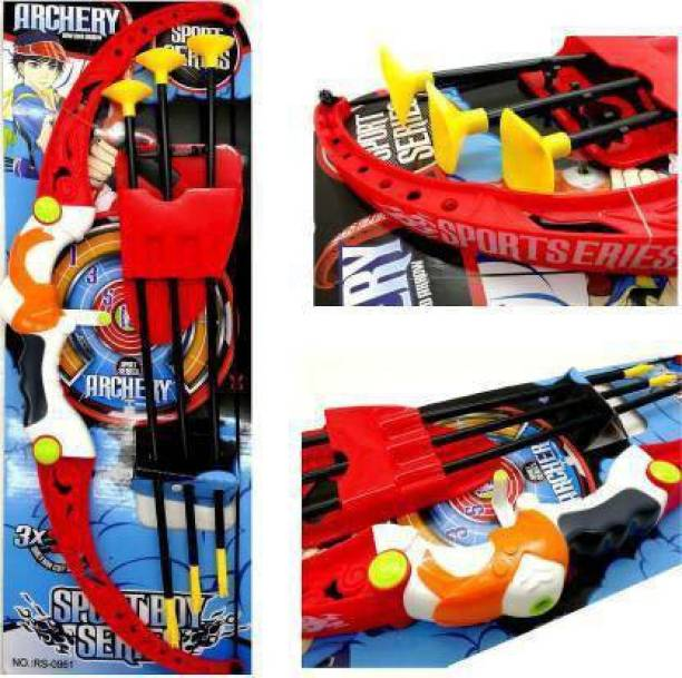 VnJ Archery Set for Kids-Bow with 3 Suction Arrow for Kids Bows & Arrows Bows & Arrows (Multicolor) play for children Bows & Arrows