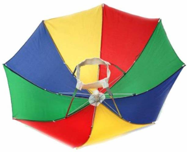 DULI HEAD UMBRELLA FOR EVERYONE EASY TO CARRY BEST FOR RAINY SEASON Umbrella Umbrella (Multicolor) Umbrella