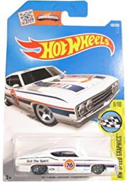 HOT WHEELS HW '69 FORD TORINO TALLADEGA WHITE 183/250 2015, HW SPEED GRAPHICS 8/10, RARE, COLLECTIBLE, DIE CAST CAR , TOY FOR KIDS