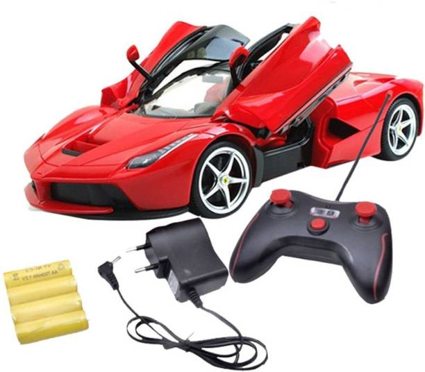 parkour Toy Hub Ferrai Remote Control Style of Saffire Car With Open Doors Scale 1:16 (RED)