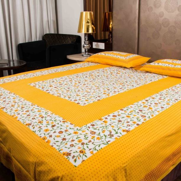 Prince Creations 228 TC Cotton Double Floral Bedsheet