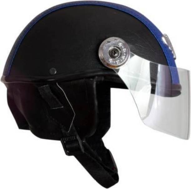 drr MOTOFLY leather CAP Motorbike Helmet (Black) Motorbike Helmet