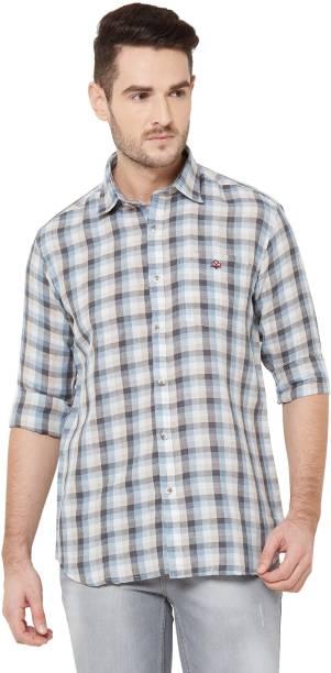 DONZELL Men Checkered Casual Multicolor Shirt