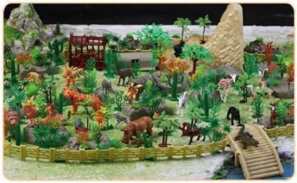 Om Enterprise 111 pcs Animal Play Sets Wild Animals Figures Set for Kids   Animal kingdom like jungle book