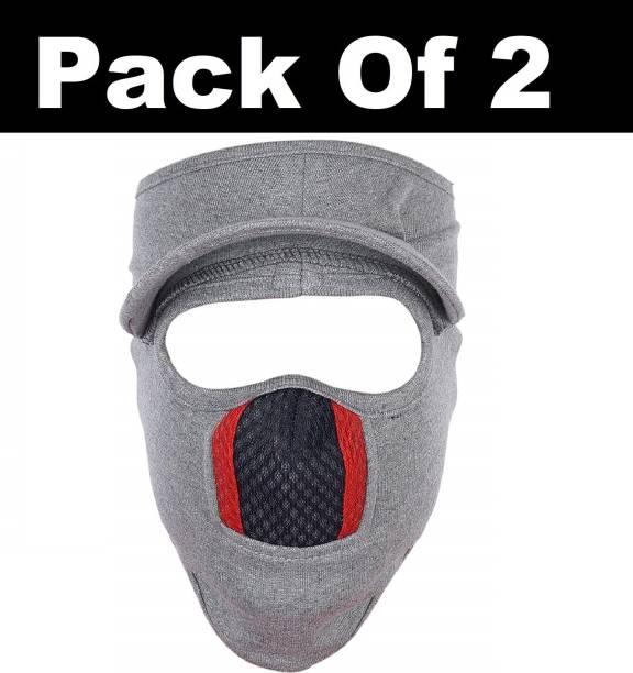 H-Store Grey Bike Face Mask for Men & Women