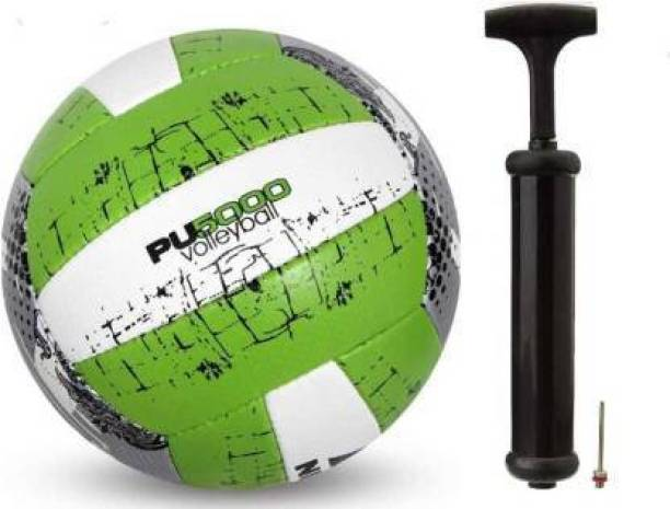 RAHICO CLUB COMBO PU5000 GREEN VOLLEYBALL + AIR PUMP Volleyball - Size: 4