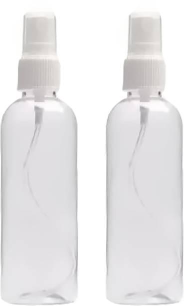 EverGlam New Pack 2 Transparent Spray Bottle 100 ml Each Bottle (Pack of 2) 200 ml Spray Bottle