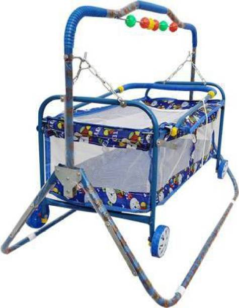 flammable New born baby cradle With Swing bassinet Cum Stroller(jhula) (palna) molde-C5 Bassinet