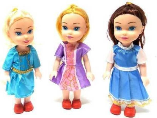 napster 3 Little Beautiful Pretty Sisters Dolls (Multicolor)